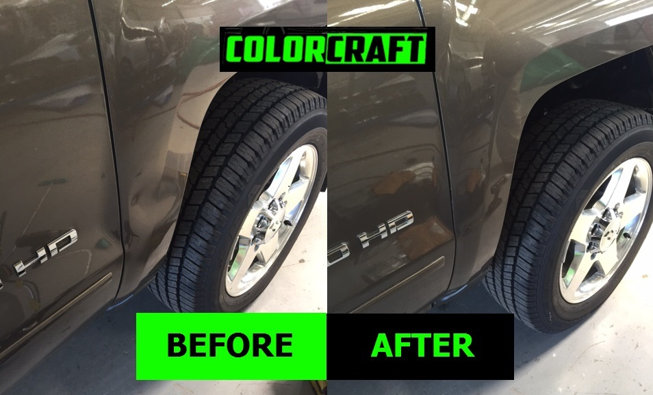 Color Craft Pros repaired this SUV fender in Montgomery, AL.