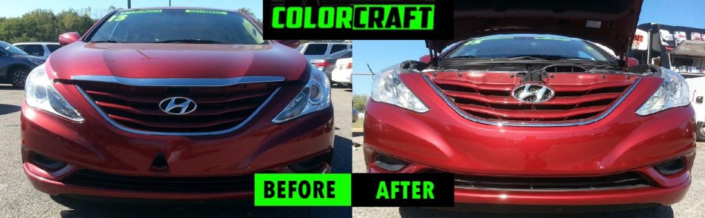 Color Craft Pros Repaired this car bumper to like new condition!
